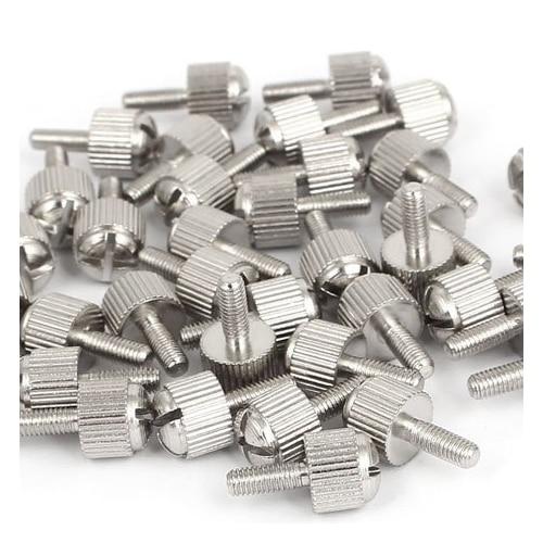 Thread Size M8-1.25 FastenerParts Plastic-Head Thumb Screw Knurled Acetal