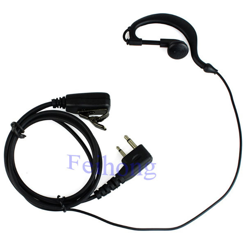 2 Pin PTT MIC Earpiece Headset For ICOM Radio IC-F11 IC-F11S IC-F21 IC-V82 IC-U82 IC-F31 IC-F3 IC-F4002 IC-F4003  Walkie Talkie