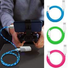 LED USB Cable Micro Flowing Glow Charging Data Sync Mobile Phone Cables For Android Samsung Huawei Xiaomi HTC LG