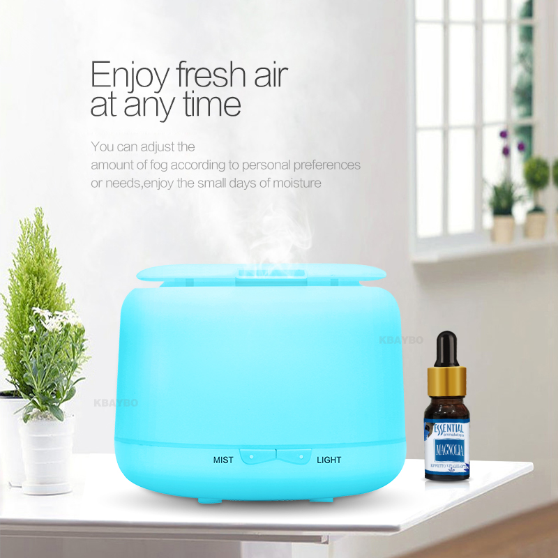 KEBEIER 300ml Ultrasonic Humidifier Aroma Essential Oil Diffuser Mist Humidifier Aromatherapy Diffuser With 7 Color LED