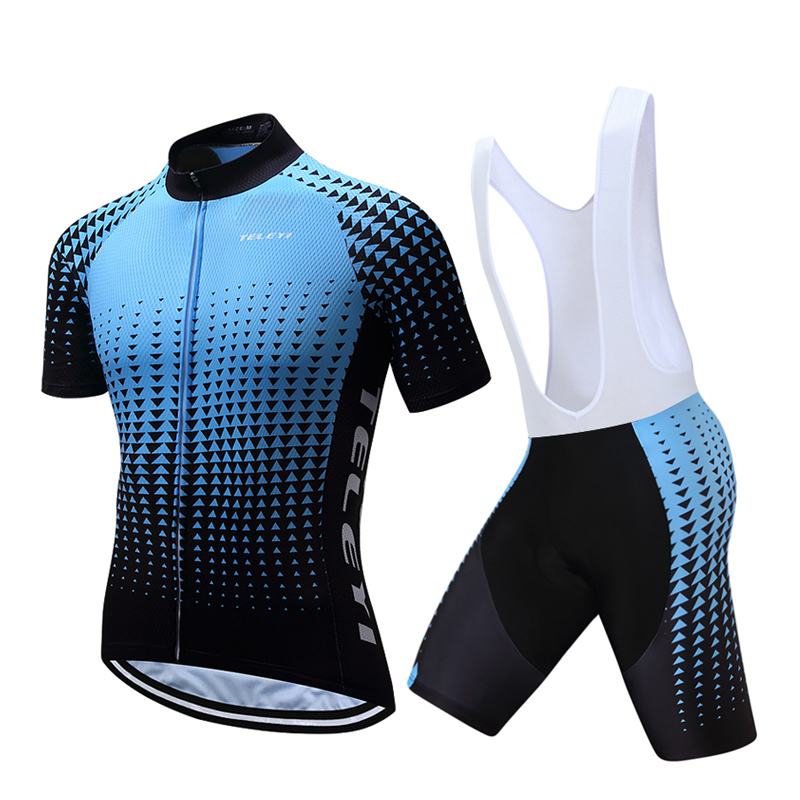teleyi Bike Cycling Clothing/Cycling Jersey Sets With Bib 2016 New Style Bicycle Summer Short Sleeve Outdoor Sportswear santic mens summer short sleeve cycling jersey sets racing sportswear cycling bicycle bike outdoor cycling bike clothing sets