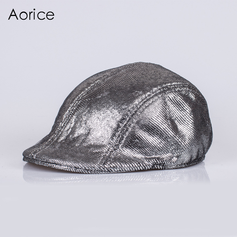 Aorice Genuine Leather Baseball Cap Hat Brand New Men's Real Horsehide Leather Hats Leisure Fashion Brand Caps HL124 aorice genuine leather baseball cap men hats and caps solid color brown black leather leisure fashion travel biker hl187