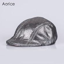 HL124  Genuine Leather Baseball Cap Hat Brand New Mens Real Horsehide Hats/caps