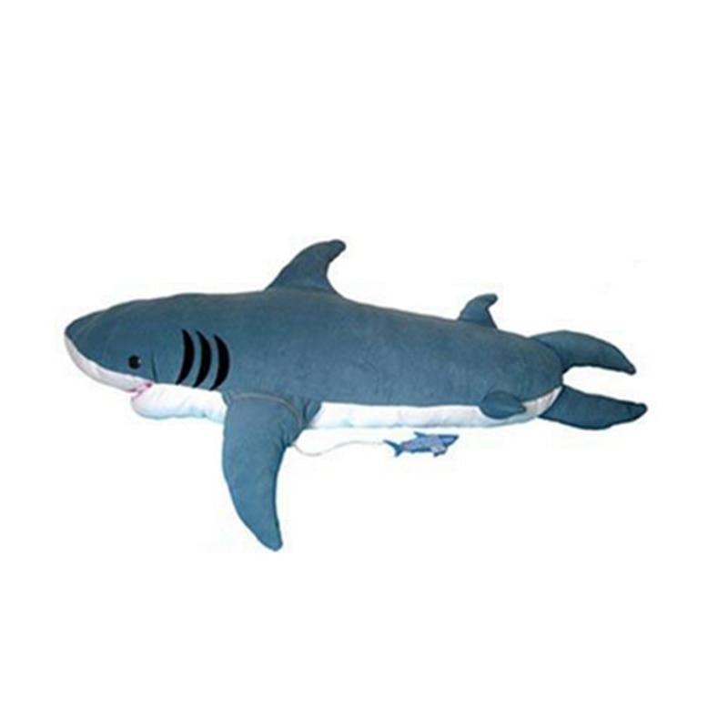 Giant Shark Sleeping Bag aliexpress : buy fancytrader pop giant shark plush toy