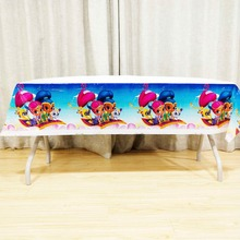 1pcs Birthday Party Supplies shimmer shine Table Cloth Decoration Disposal Kids Boys Event TableCloth