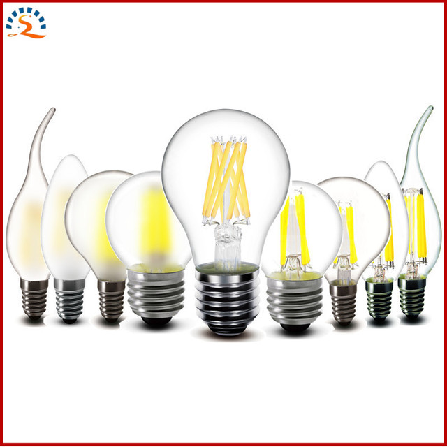 US $1 0 |2w 4w 6w 8w E27 E14 Clear Glass LED Bulb A60 G45 C35 220v AC LED  candles Lamp Frosted Filament light 230v AC-in LED Bulbs & Tubes from  Lights