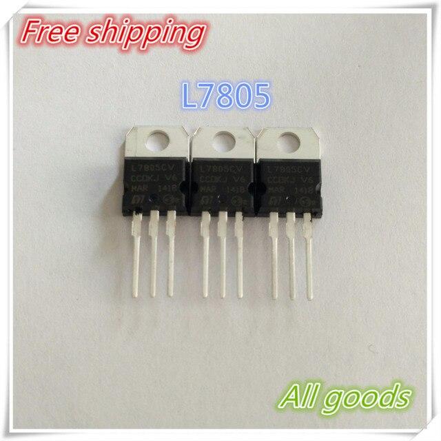 Gratis Verzending 10 stks LM7805 L7805 7805 Voltage Regulator IC 5 V 1.5A TO-220