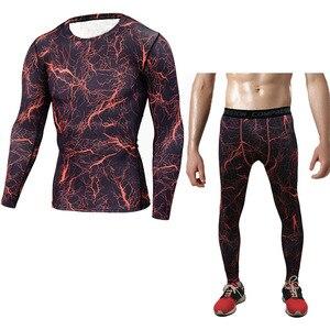 التمويه رياضية الرجال تريكو mma طفح الحرس الحرارية طويلة الأكمام الحرارية مجموعة الرجال قميص ضغط crossfit