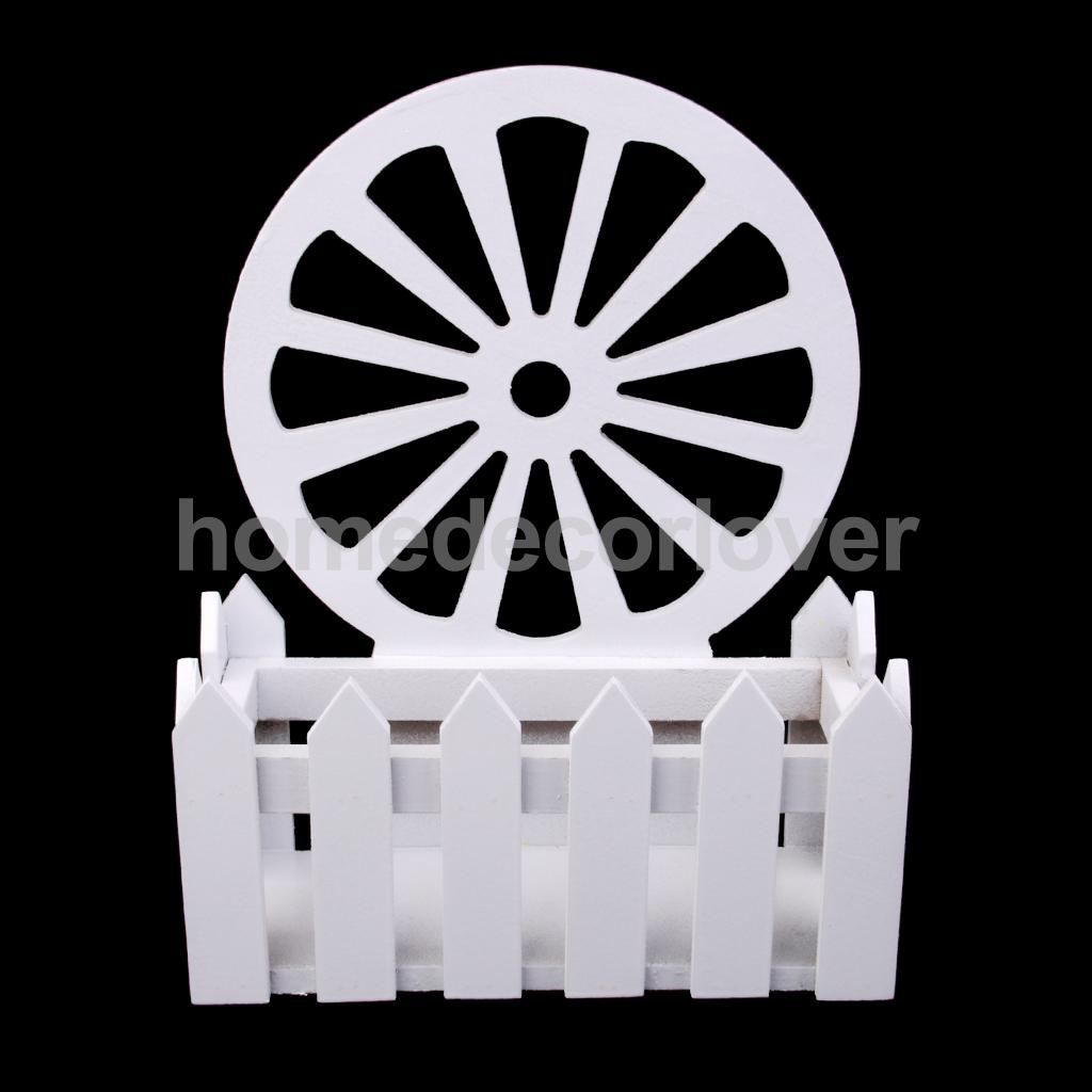 Wooden Garden Patio Flowers Picket Fence Pot Potted Planter Holder Stand  DIY(China (Mainland