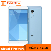 Original Xiaomi Redmi Note 4X 4GB 64GB Snapdragon 625 Octa Core CPU 4G Mobile Phone Note 4 X 13.0MP 5.5