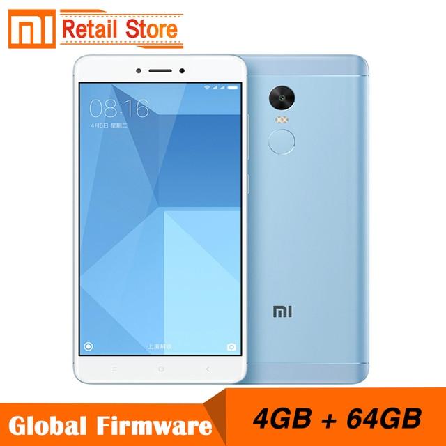 """Оригинальный Xiaomi Redmi Note 4x4 ГБ 64 ГБ Snapdragon 625 Octa core Процессор 4 г мобильный телефон Примечание 4x13.0 Мп 5.5 """"FHD отпечатков пальцев ID"""