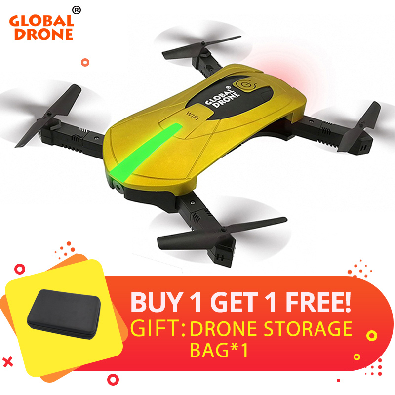 Global Drone GW018 FPV Selfie Drone with Camera HD 720P Wide-Angle Foldable Dron High Hold RC Quadrocopter with Camera VS JY018 global drone gw018 wifi fpv selfie drones with camera hd 2 0mp wide angle altitude hold quadrocopter rc dron mini drone vs jy018
