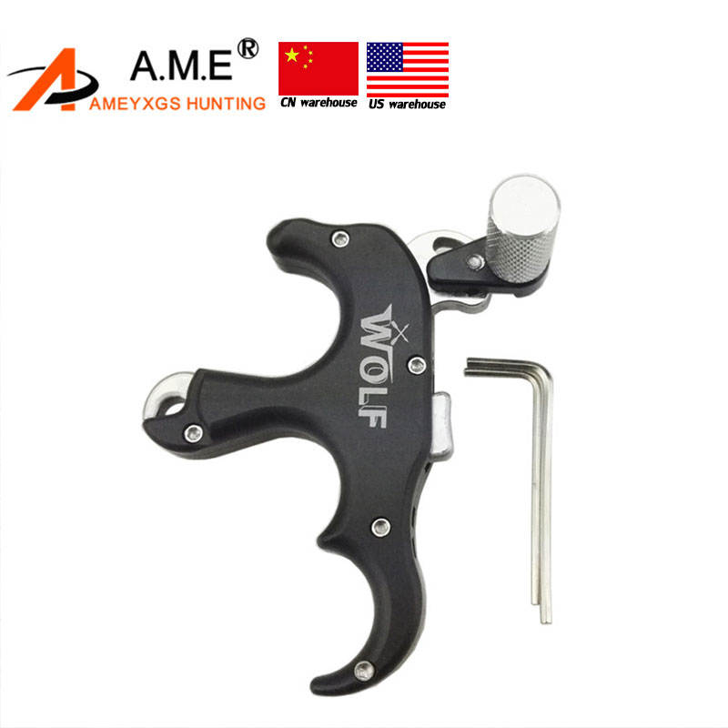 3 Finger Grip Caliper Arrow Release Aids for Compound Bow Hunting Archery
