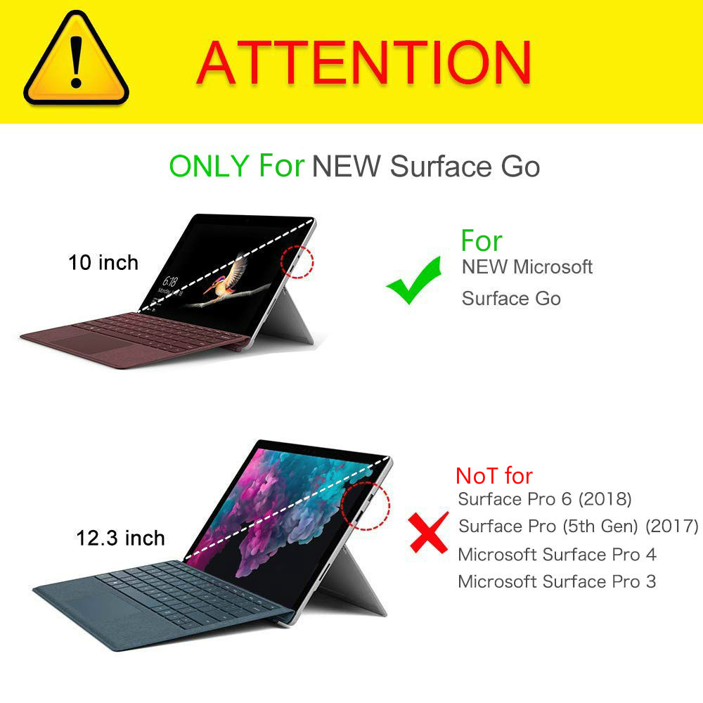 Case For Microsoft Surface Go Mult-Angle View Portfolio Cover Fit Surface  Go 10inch Tablet 2018,Compatible w/Type Cover Keyboard