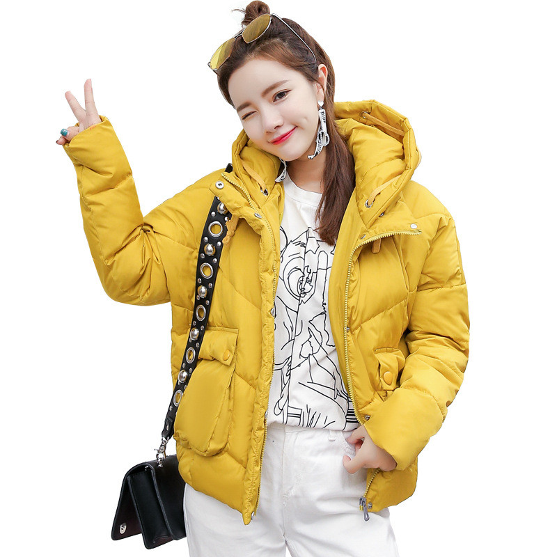 Korean Loose Girls Warm Winter Hooded Short Padded Jacket Women Fashion Large Size Casual Cotton Thick Wadded Women Coat TT3224 large size winter jacket hooded coat women clothing korean loose thick lamb wool coat solid casual warm cotton female coats 4xl