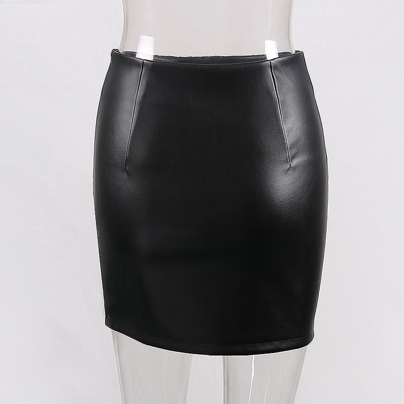 WYHHCJ 2018 new fashion summer women skirt anomaly rivet decorate empire sexy skirts pencil mini pu patchwork leather skirt 10