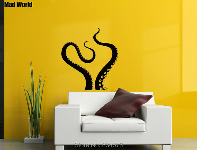 Mad World Octopus Tentacles Sea Animal Kraken Wall Art Stickers Wall ...
