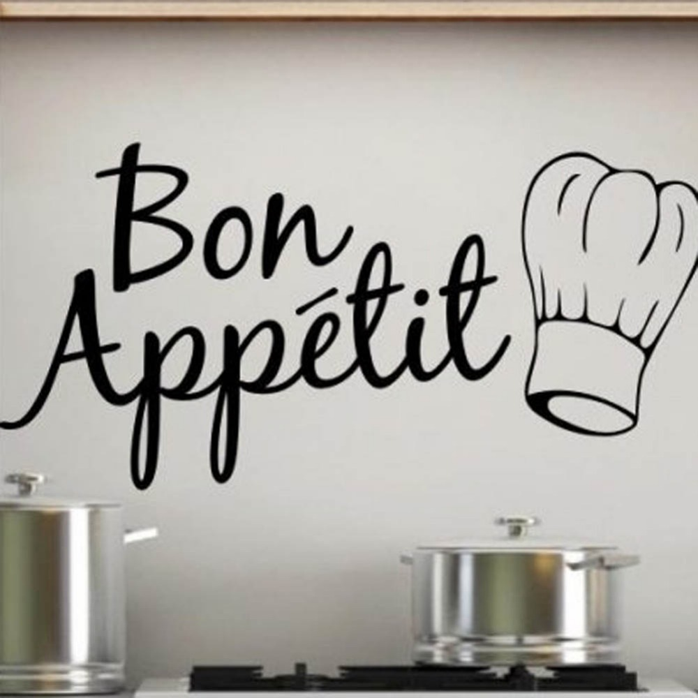Fashion Home Decor Diy Characters Kitchen Stickers Bon Appetit Wall Stickers In Wall Stickers From Home Garden On Aliexpress Com Alibaba Group