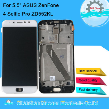 "5.5"" Original Amoled M&Sen For ASUS ZenFone 4 Selfie Pro ZD552KL LCD Display Screen Frame+Touch Panel Digitizer For Asus ZD552KL"