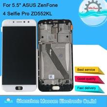 """5.5 """"Original Amoled M & Sen pour ASUS ZenFone 4 Selfie Pro ZD552KL cadre décran daffichage à cristaux liquides + numériseur décran tactile pour Asus_Z01MD"""