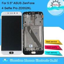 "5.5 ""amoled original m & sen para asus zenfone 4 selfie pro zd552kl display lcd quadro da tela + painel de toque digitador para asus z01md"