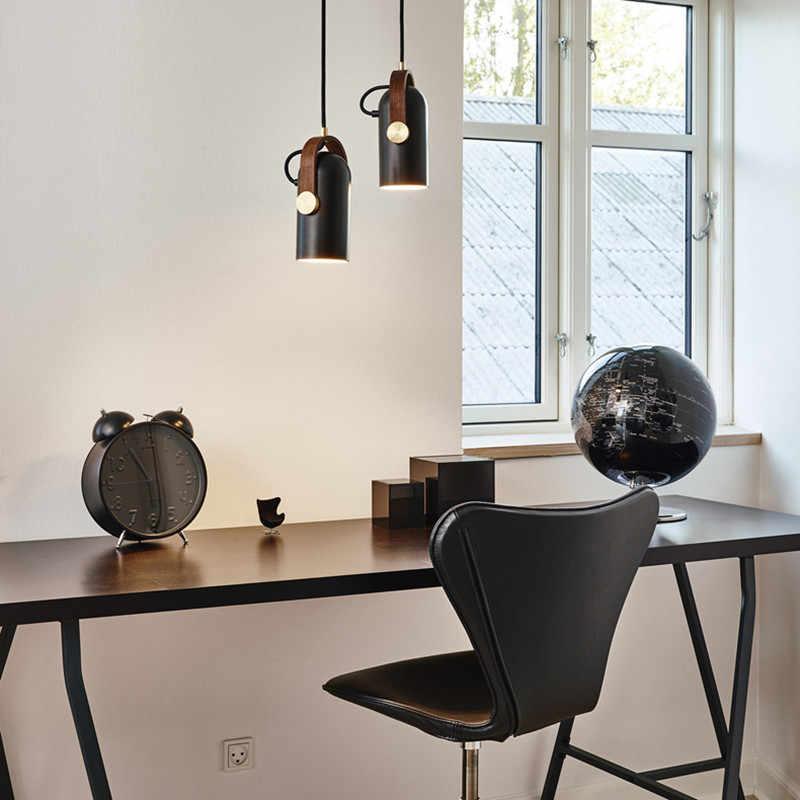 Современные подвесные светильники из металла черный подвесные светильники для Гостиная Кухня светодиодный прожекторы подвесные внутреннее освещение, осветительный прибор