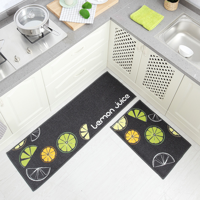 Image 5 - Long Kitchen Mat Bath Carpet Floor Mat Home Entrance Doormat Tapete Absorbent Bedroom Living Room Floor Mats Modern Kitchen Rug-in Mat from Home & Garden