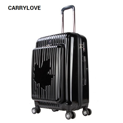 CARRYLOVE Sexy Fashionbusiness Luggage Series 20 Inch Size Maple Leafs High Quality PC Rolling Luggage