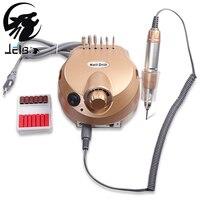 Jelbo 35000RPM Pro Professional Electric Nail Drill File Bit Machine Nail Art Handle Manicure Kit Nail