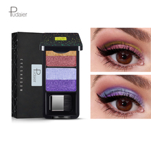 Pudaier Brand Shimmer Eyeshadow Palette 4 Colors Colorful Gradient glitter Eye S