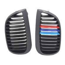 1 пара матовый черный M Цвет автомобиля передняя ноздри гонки гриль для BMW E81 E87 04-07 120d 120i 130i аксессуары для украшения автомобиля