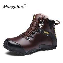 Mangobox Мужские ботинки открытый плюс хлопка треккинговые ботинки Для мужчин зимние теплые Для мужчин S треккинг Сапоги и ботинки для девочек с Мех Для мужчин S Mountain Обувь