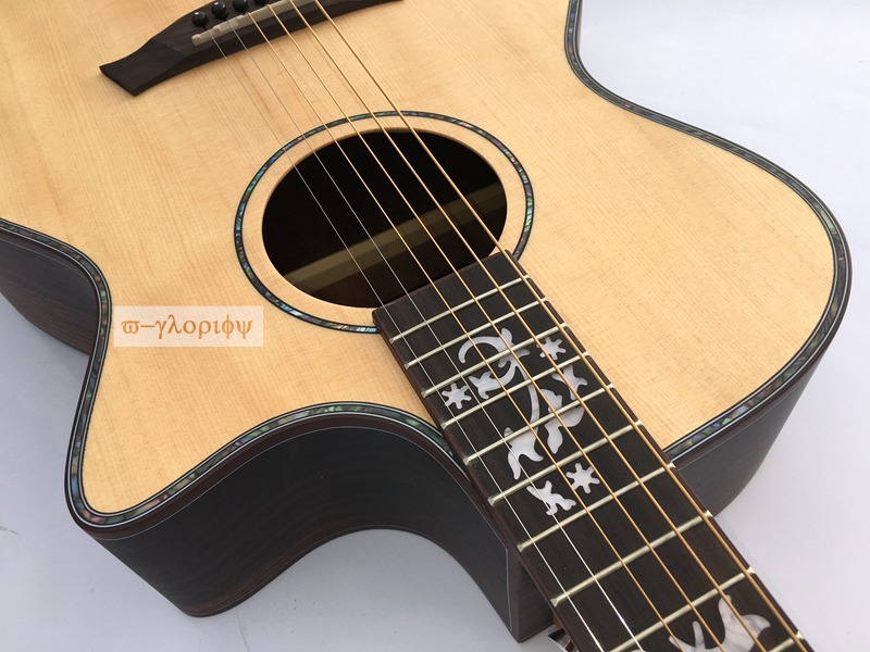 professional solid spruce top electric acoustic guitar free string free shipping 2017new chinese factory 34 guitar travel guitar solid spruce above mahogany on the back and side free shipping