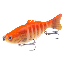Купить с кэшбэком NEW TYPE 7 Segments carp fishing lures lifelike swimbaits 100mm/ 16g crankbaits hard baits with box wobblers bass