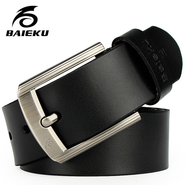 051c5bf3266f BAIEKU 2018 Newest designer belts men high quality cow genuine leather  vintage pin buckle ceinture mens