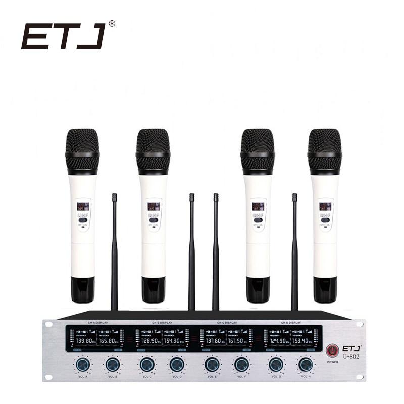 ETJ bežični mikrofon sustav Profesionalni mikrofon 8 kanalni - Prijenosni audio i video - Foto 6