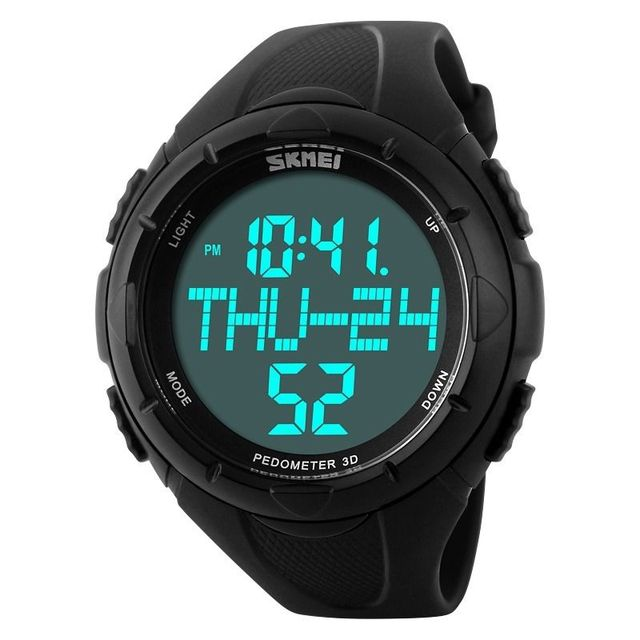 Sport Watch Monitor 3D Pedometer Step Walking Distance Calorie Counter Activity Tracker for Men Climb Military Wristwatch