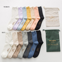 7 Pairs Fashion Monday To Sunday New Year Women And Men One Week Happy Socks Pink Harakjuku Funny Socks Monday To Sunday