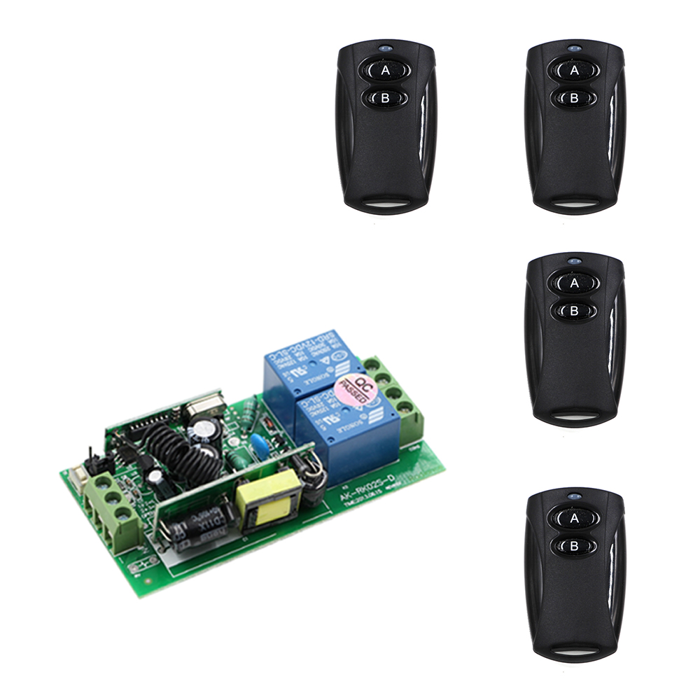 Top Quality AC85V-250V 10A Relay 2 Buttons with Transmitter RF Wireless Remote Control Switch For Smart Home in Stock ac 250v 20a normal close 60c temperature control switch bimetal thermostat