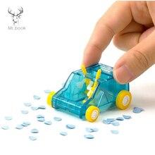 Купить с кэшбэком Mini Car Table Dust Cleaning Trolley Keyboard Desktop Dust Cleaner Confetti Pencil Eraser Dust Sweeper for Home Office Desk Set