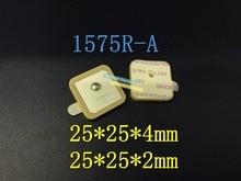 Freies Verschiffen 100 teile/los 1575R A 1575R 1575,42 MHZ GPS Passive Keramik Antennenanschluss 25*25*4 MM 25*25*2 MM