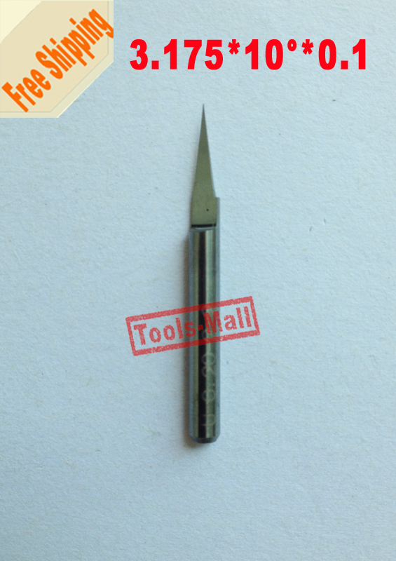 Hand & Power Tool Accessories 1pcs 3.175mm Carbide Pcb Engraving Bits Cnc Router Tool 10 Degrees 0.1mm V-shap