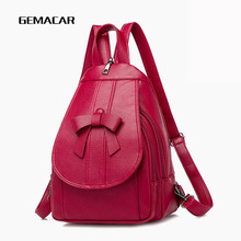 Fashion Popular Womens Small Backpack Bow Decoration Female Bag Student Casual Daily Shopping Out