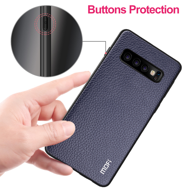 MOFi Samsung Galaxy S10 S10 Plus S10 Lite Business Style PU Leather Shockproof Back Case Cover