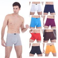 9 colors Big size cotton long boxers men boxer underwear push up for Soft and Breathable mens sexy clothes L-8XL