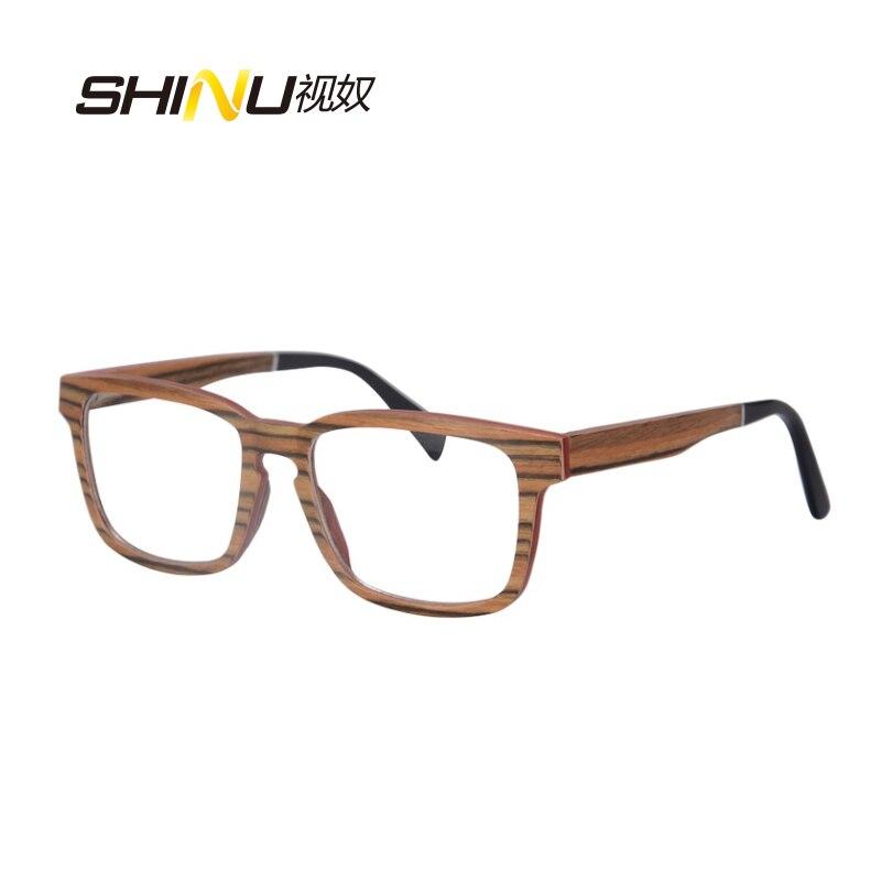 přírodní dřevo optický rám předpis brýle brýle krátkozraký brýle brýle vysoce kvalitní SH73008
