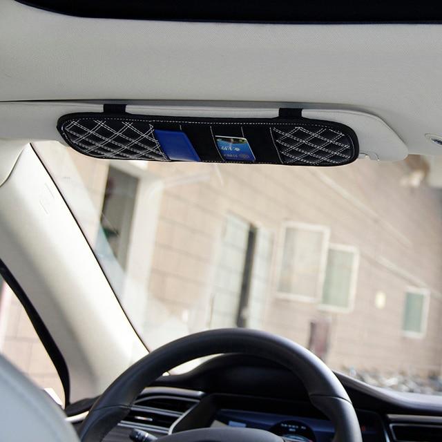 Car sun visor card Sunshades shade card sets Taoka folder case cliper for tesla  model s free shipping 01b30d0ef4d