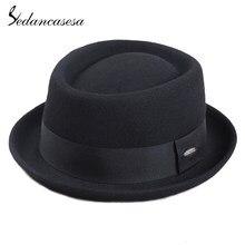 Sedancasesa de Australia de 100% de lana de los hombres Fedora sombrero de  pastel de cerdo sombreros para el clásico de la Igles. 9fffd3cb2e6
