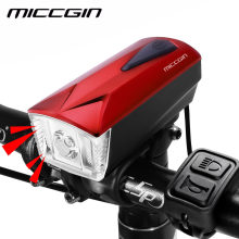 MICCGIN LED Bike Light Front Remote Horn Bicycle Light Lantern For Bicycle Cycling Bell Flashlight USB Rechargeable Speaker Lamp(China)
