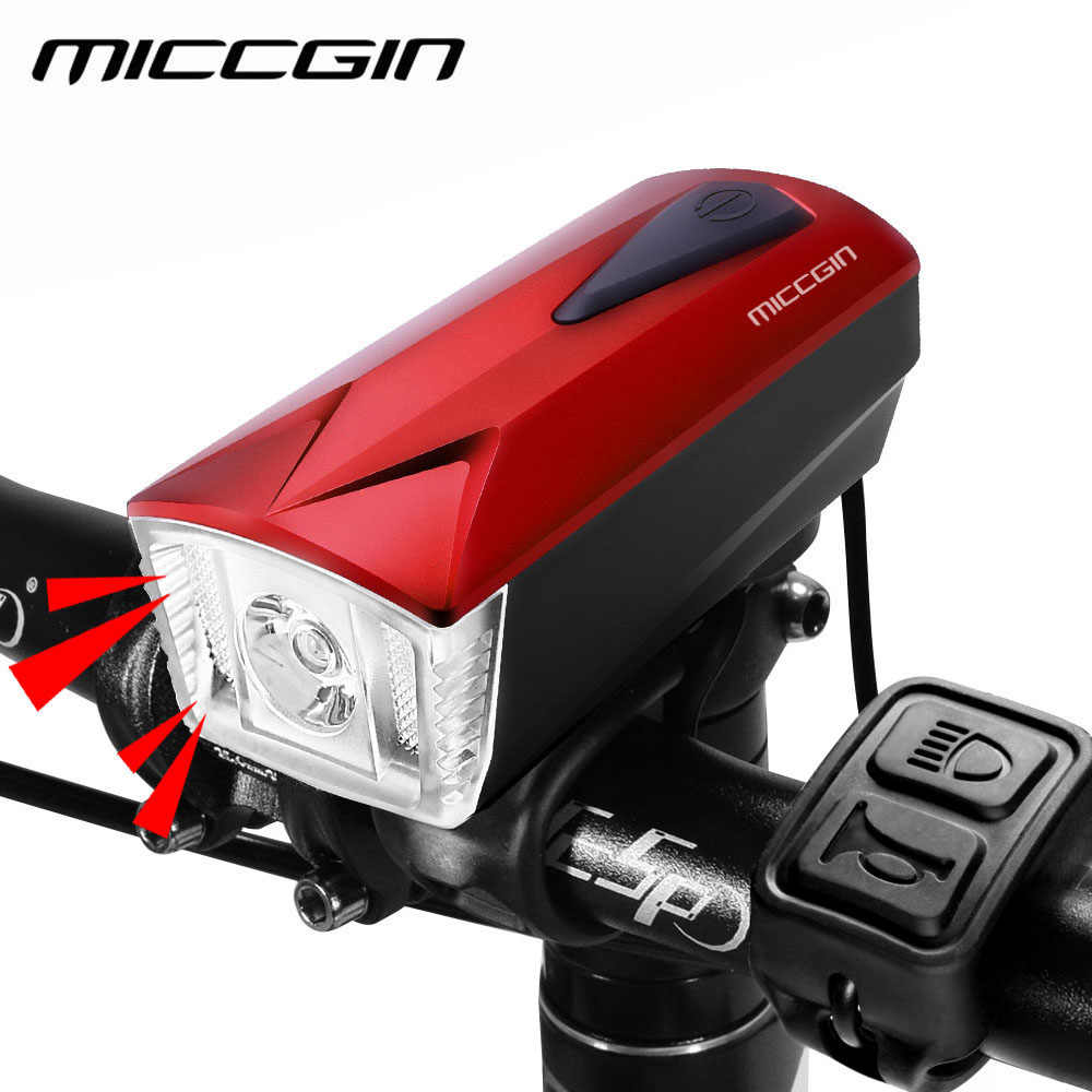 22c35bd41b9 MICCGIN LED Bike Light Front Remote Horn Bicycle Light Lantern For Bicycle  Cycling Bell Flashlight USB